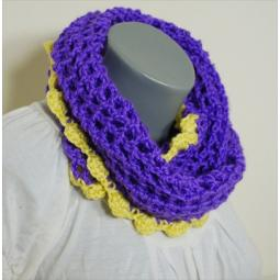 People Infinity Scarf - Purple with Yellow