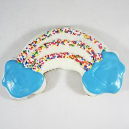 Large Rainbow Dog Treat