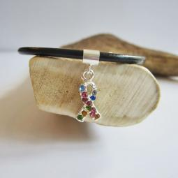 Rainbow Crystal Ribbon European-Style Charm and Bracelet