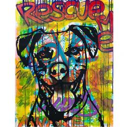 Rescue Me Indelible Dog Dean Russo Print