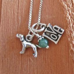 Pointer Love Mini Sterling Silver Necklace