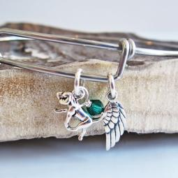 Retriever Mini Angel Wing Stackable Bangle Bracelet