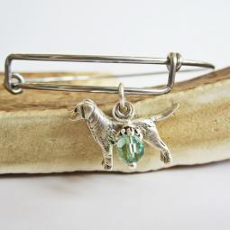 "Labrador Large Dangle Stackable Bangle Bracelet (2.5""-3"")"