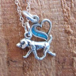 Retriever In My Heart Mini Sterling Silver Necklace