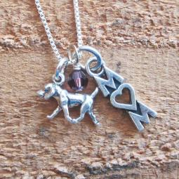 Retriever Mom Mini Sterling Silver Necklace