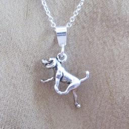 Retriever Mini Pendant Charm and Necklace