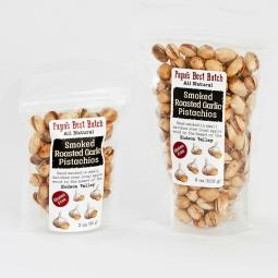 Papa's Best Batch Roasted Garlic Smoked Pistachio Nuts-For HUMAN