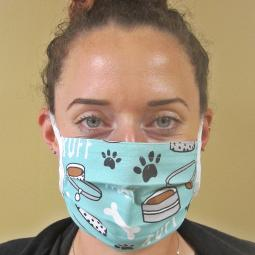 Ruff Dog Bone Pleated Face Mask