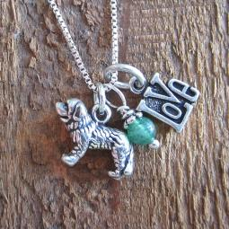 Saint Bernard Love Mini Sterling Silver Necklace