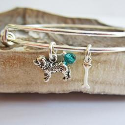 Saint Bernard Mini Bone Stackable Bangle Bracelet