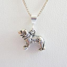 Saint Bernard Mini Pendant Charm and Necklace