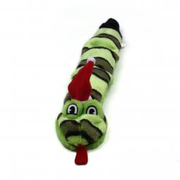 Invincibles Three Squeak Santa Snake Christmas Dog Toy