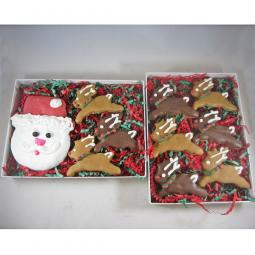 Santa and His Nine Reindeer Christmas Dog Treat Asst (2 boxes)