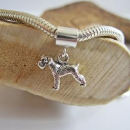 Schnauzer Mini Sterling Silver European-Style Charm and Bracelet