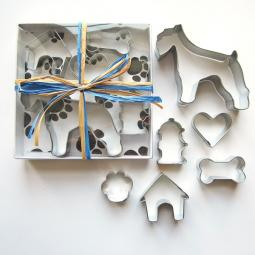 Schnauzer Six Piece Cookie Cutter Set + a Letter!