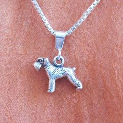 Schnauzer Mini Pendant Charm and Necklace