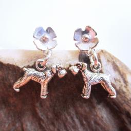 Schnauzer Poppy Sterling Silver Earrings