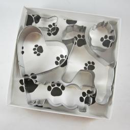 Schnauzer Woof Five Piece Cookie Cutter Set + a Letter!