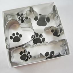 Scottish Terrier Woof Five Piece Cookie Cutter Set + a Letter!