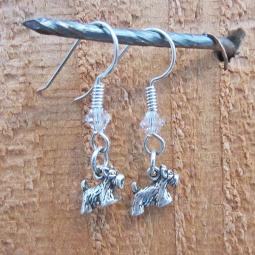 Scottish Terrier Sterling Silver Earrings