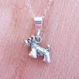 Scottish Terrier Mini Pendant Charm and Necklace