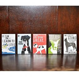 Set of Five Great Dane Art Magnets