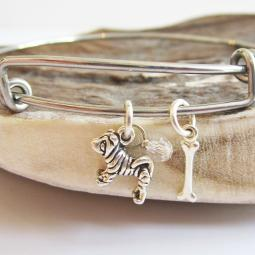 Shar-Pei Mini Bone Stackable Bangle Bracelet