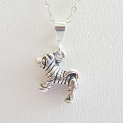 Shar-pei Mini Pendant Charm and Necklace