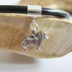 Sheltie Mini Sterling Silver European-Style Charm and Bracelet
