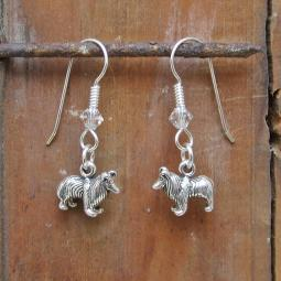 Sheltie Sterling Silver Earrings