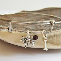 Sheltie Mini Bone Stackable Bangle Bracelet