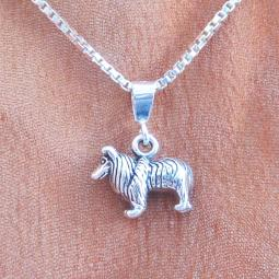 Sheltie Mini Pendant Charm and Necklace