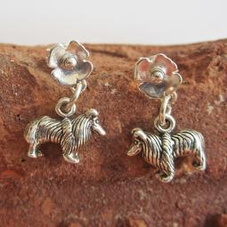 Sheltie Poppy Sterling Silver Earrings