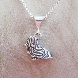 Shih Tzu Large Pendant Charm and Necklace
