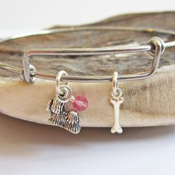 Shih Tzu Mini Bone Stackable Bangle Bracelet