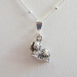 Shih Tzu Mini Pendant Charm and Necklace
