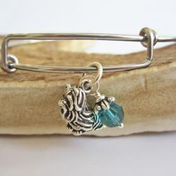 "Shih Tzu Large Dangle Stackable Bangle Bracelet (2.5""-3"")"