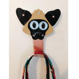 Siamese Cat Metal Rivet Leash Holder
