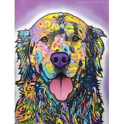 Silence is Golden Print by Dean Russo - Golden Retriever - Disco