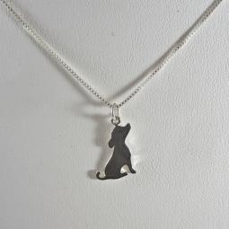 Sitting Pretty Pittie Sterling Silver Necklace