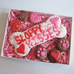XL Sloppy Kisses Valentine Dog Treat Assortment Gift Box