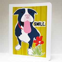 Pit Bull Smile Note Cards