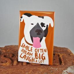 Pit Bull Smile Often Dog Art Magnet