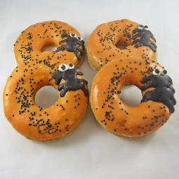 Medium Spooky Spider Halloween Donut Dog Treat