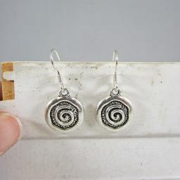 Spiral Circle Dangle Earrings