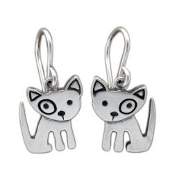 Spot Dog Sterling Silver Earrings