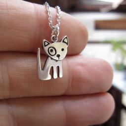 Spot Mini Dog Sterling Silver Necklace