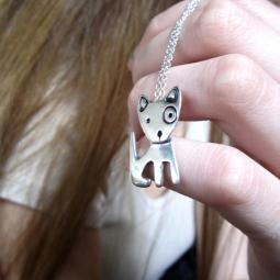 Spot Large Dog Sterling Silver Necklace
