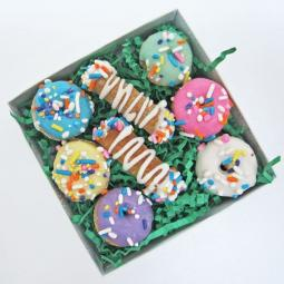 Mini Spring Donut and Cannoli Dog Treat Set