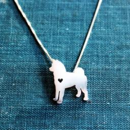 Akita Itty Bitty Sterling Silver Necklace